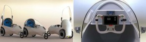compact closed electric single-seater vehicle